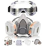 Masque à Gaz Respirateur Coffly Demi-Masque Réutilisable Kit de Masque Respiratoire de Protection...