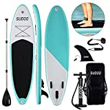 Triclicks Stand Up Paddle Gonflable 300x75x15cm (Ép), Pompe Haute Pression, Pagaie/Leash/Sac,...