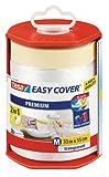 tesa Easy Cover Film PREMIUM - Film de Masquage 2 en 1 pour Peinture et Ruban de Masquage -...
