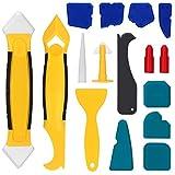 Lisseur Joint Silicone 16 Pieces Joint Calfeutrage Outils, Coulis D'étanchéité Lissage Outil Kit...