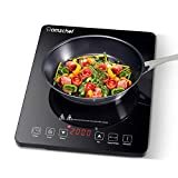 Plaque Induction Portable Amzchef, plaque de cuisson à induction de 2000 W avec corps mince, 10...