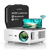 Vidéoprojecteur WiFi Bluetooth Full HD 1080P, YABER V6 8500 Lumens Projecteur WiFi Portable...