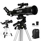 INTEY Télescope Astronomique F400mm, Grossissement (67X, 16X) Oculaire Kellner (K6mm, K25mm),...
