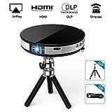 Vidéoprojecteur Full HD, Exquizon R6 Projecteur Portable WiFi Support 1080P Compatible pour USB...
