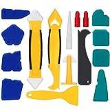 Lisseur Joint Silicone Outils de Calfeutrage 16 Pieces Outil D'étanchéité Kit Coulis Lissage...