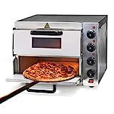 WilTec Four à Pizza électrique 2 Étages 3000W avec Pierre réfractaire Alimentaire Régualtion de...