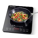 Plaque Induction Portable Amzchef, plaque de cuisson à induction de 2000 W avec corps mince, 9...