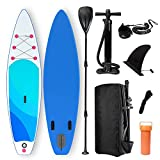 Harsso Gonflable Stand Up Paddle Board, Sup Planche 320×80×15cm en PVC Construction Ultra Robuste,...