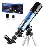 TELMU Télescope Astronomique - F36050M Télescope Enfants avec Oculaires H6 mm et H20 mm,...