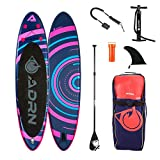 ADRN Paddle Gonflable Spiral 10'8 (325cm) - Pack Complet Stand up Paddle avec Dérive Centrale,...