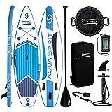 AQUA SPIRIT iSUP Stand up Paddle Gonflable Surf Planche de Paddle pour Adulte Unisexe Débutant et...