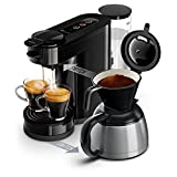Philips HD6592/61 Machine à café SENSEO Switch 2 en 1 Noir (machine à dosettes + machine à café...