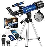 télescope pour Enfants débutants Astronomie Adultes Adolescent Portable 70mm Lunette astronomique...
