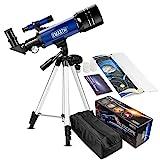 Emarth 70 mm Télescope Astronomique pour Enfants Et débutants, Adulte, Portable Télescope avec...