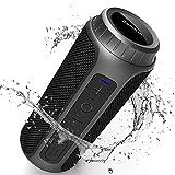 Enceinte Bluetooth Portable, Zamkol Bluetooth 5.0 Enceinte sans Fil, 10 Heures De Lecture, Son à...