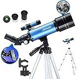 Aomekie Télescope Astronomique pour Enfant Adultes 70mm Lunette Astronomique avec Trépied...