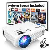 Projecteur HI-04 DR.Q Mini Projecteur 3800 Lumens Supporte 1080P FHD, Videoprojecteur Compatible...