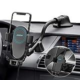 Mpow Chargeur Induction Voiture, Qi Chargeur Voiture à Fixation Automatique 2 en 1, Chargeur sans...
