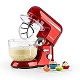Klarstein Bella Rossa 2G - robot de cuisine, mélangeur, pétrin, 1200 W, 5,2 l, 6 vitesses, pétrin...