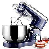 Robot Pâtissier 1500W, 5.5L Elegant Life Robot de Cuisine, Batteur sur socle, Vitesse à 6 Niveaux,...