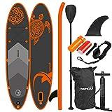 Nemaxx Stand Up Paddle Gonflable 297x76x15 cm, Orange Turtle/Tortue Orange - Sup, Planche de Surf...