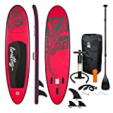 ECD Germany Stand Up Paddle Board Gonflable Limitless | 308 x 76 x 10 cm | jusqu'à 120 kg | PVC |...