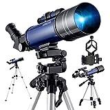 BEBANG Télescope Astronomique, Optiques En Verre Entièrement Traitées,Avec Trépied Réglable,...