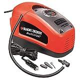 BLACK+DECKER ASI300-QS Gonfleur-Compresseur filaire - 11 Bars - 160 PSI - 220 V ou allume-cigare 12V...