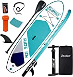 ACOWAY Planche de Stand Up Paddle Gonflable, 320x81,5/84x15cm/Charge maximale 180kg, Planche Sup...