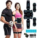 MATEHOM Electrostimulateur Musculaire,Ceinture Abdominale Electrostimulation, 6 Modes 10 Niveaux...