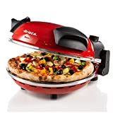 Ariete 909 Four à Pizza, 400 degrés, Cuit Une Pizza en 4 Minutes, Plaque en Pierre Réfractaire de...