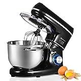 Nidouillet Robot Pâtissier, Mixeur Électriques de Cuisine, 6 vitesses, Mixeur à Aliments avec...