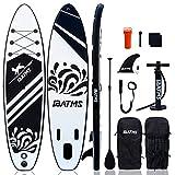 IBATMS Planche de paddle gonflable avec accessoires de SUP Premium et sac à dos, pont...