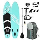 FBSPORT Planche de Sup Gonflable, Stand up Paddle Gonflable PVC Aluminium, Planche de Paddle...