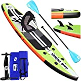 Stand up paddle Gonflable SUP Board Stand Up Paddle Board, siège kayak,330 x 76 x 15 cm, jusqu'à...