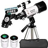 Télescope Astronomique - Portable et Puissant 16x-120x - Facile à Monter et Utiliser - Idéal pour...