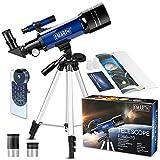 70 mm Télescope Astronomique pour Enfants Et débutants, Adulte, Portable Télescope avec Trépied...