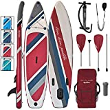 ALPIDEX Stand Up Paddle Board 320 x 76 x 15 cm Charge Max 130 kg Sup Planche Gonflable iSup Leger...
