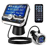 Clydek Transmetteurs FM Voiture, Adaptateur Autoradio sans Fil Bluetooth 5.0 avec Port de Charge...
