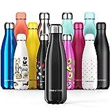 PROWORKS Bouteille d'eau Isotherme, sans BPA, Gourde INOX Reutilisable pour Maintien Chaud de 12...