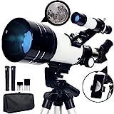 Upchase Télescope Astronomique, 70/300/mm Portable Réfraction, Lunette Astronomiques, Trépied...