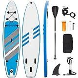 Planche de Stand Up Paddle Board Gonflable, Sup Paddle avec Pompe à Double Action, Pagaie, Laisse,...