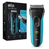 Braun Series 3 ProSkin Rasoir Électrique Homme Noir/Bleu, Rechargeable Et Sans fil Technologie Wet...