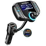 Transmetteur FM Bluetooth 4.2, ABOX Kit Main Libre sans Fil, Adaptateur Autoradio Chargeur USB...