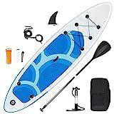 inty Stand Up Paddle Board Gonflable, Sup Paddle en PVC/EVA avec Pagaie Réglable, Pompe à Double...