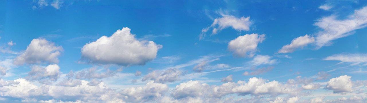 station meteo - nuages ciel bleu