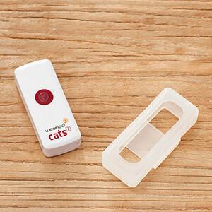 collier GPS table bois et cache