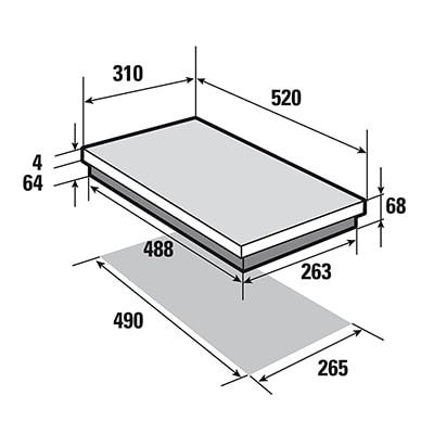 plaque induction sauter SPI4230B schema installation