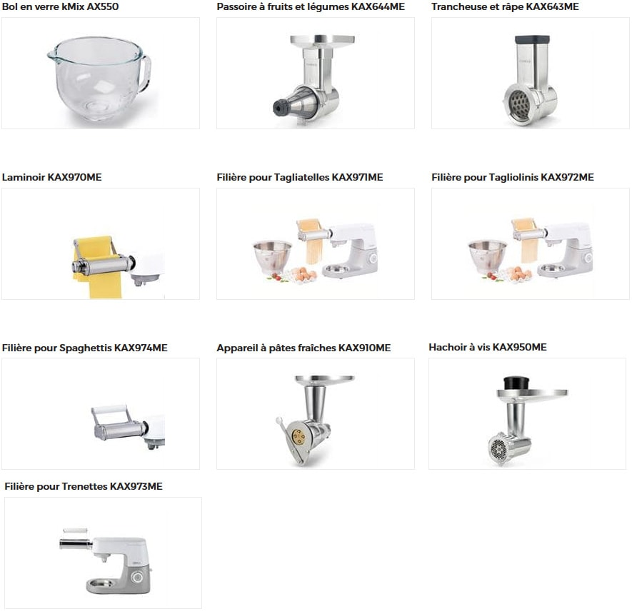accessoires compatibles kmix