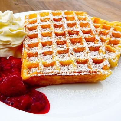 gaufre chantilly framboise